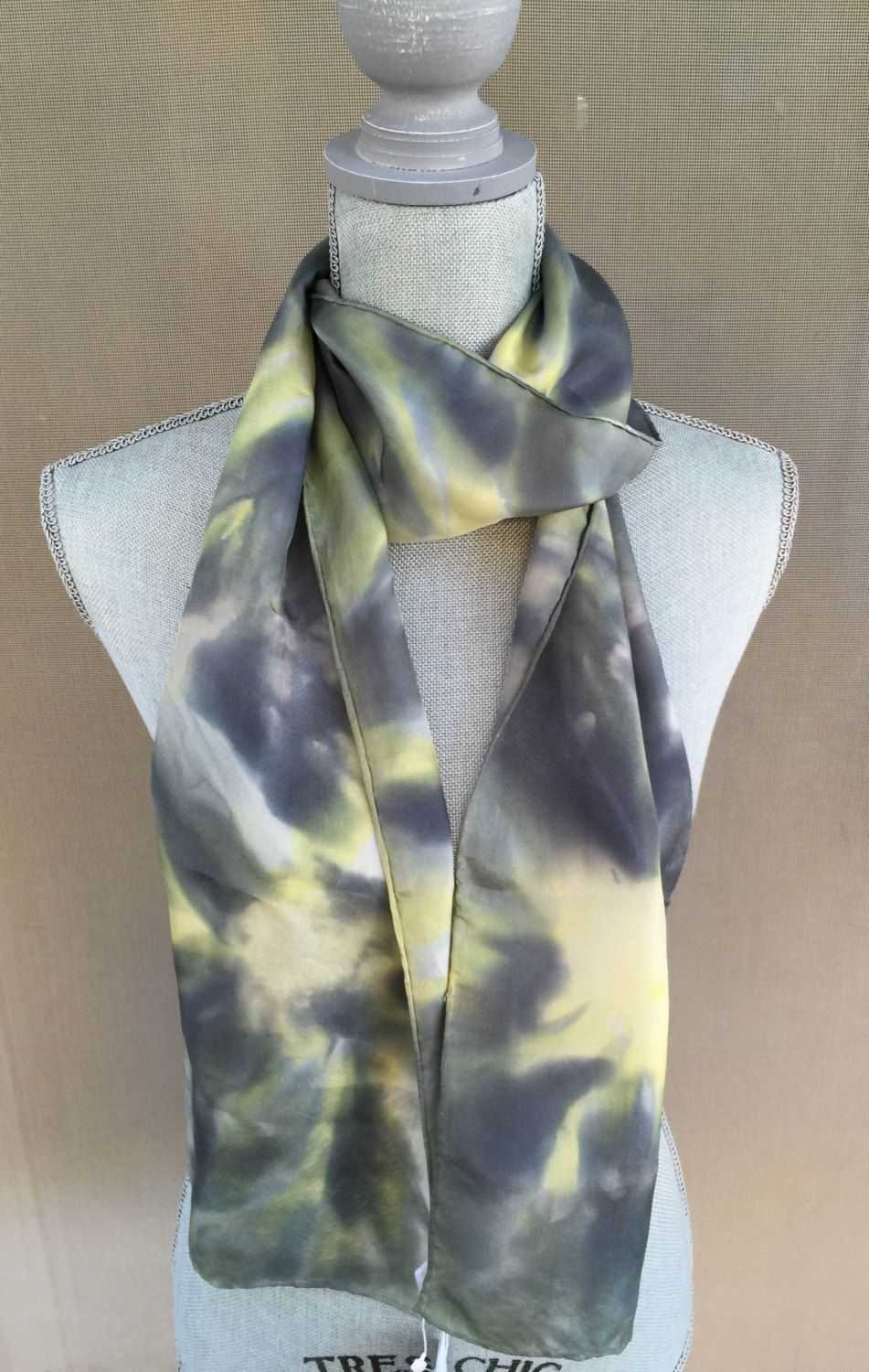 Scarf handpainted silk black yellow unisex scarf mothers day scarf handpainted silk black yellow unisex scarf mothers day easter gifts gift negle Gallery