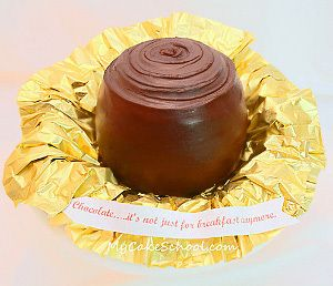 Big Chocolate Bridal Shower Cakes | AllFreeDIYWeddings.com