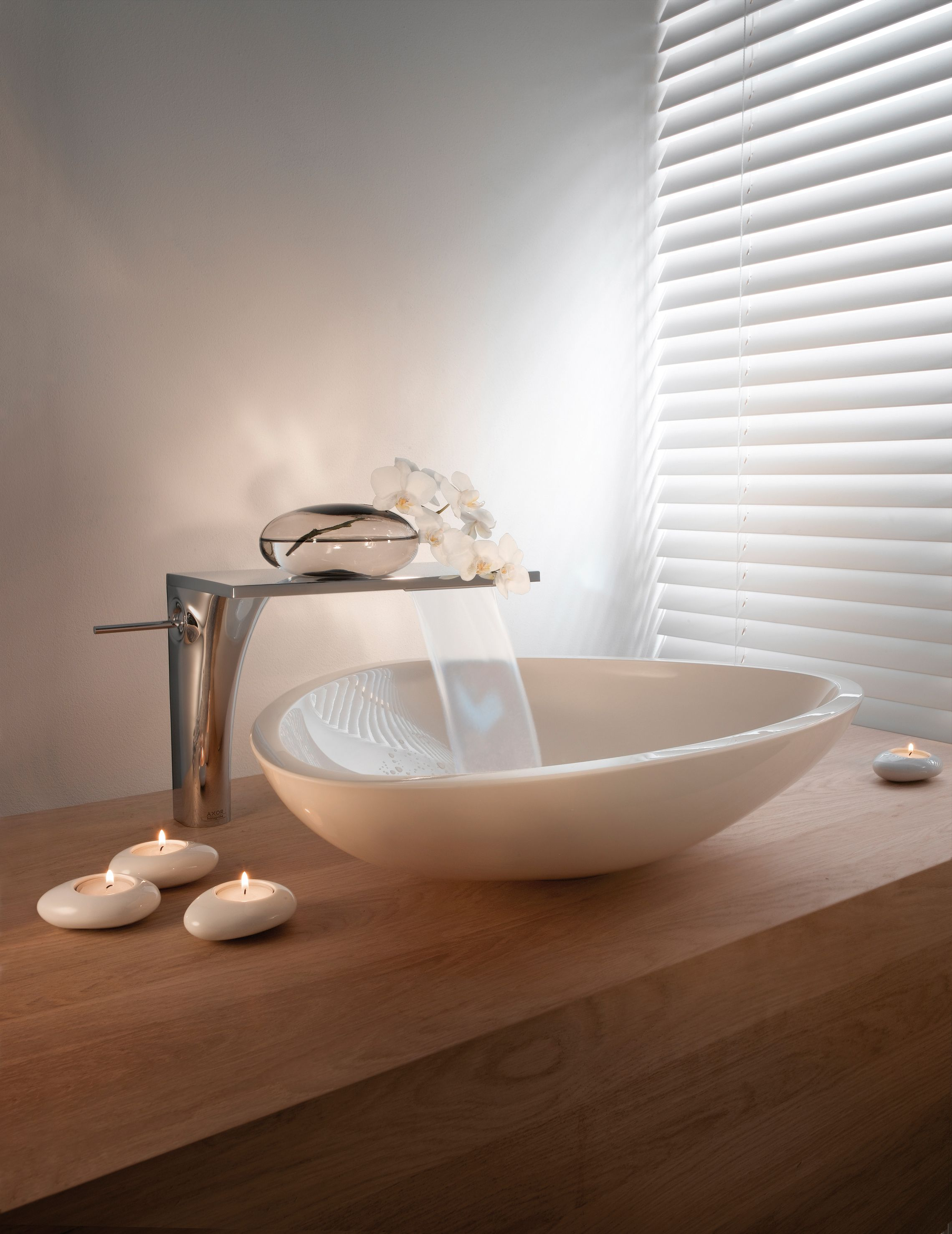 Superior Hansgrohe Axor Massaud Sink I Like Those Tea Lights! I Wonder How Hard It  Would Be To Get Some Smooth Stones And Put A Hole In Them! Photo Gallery
