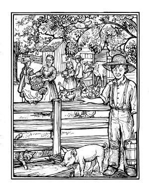 Cheryl harness coloring pages farmer boy and other lhotp for Laura ingalls wilder coloring pages