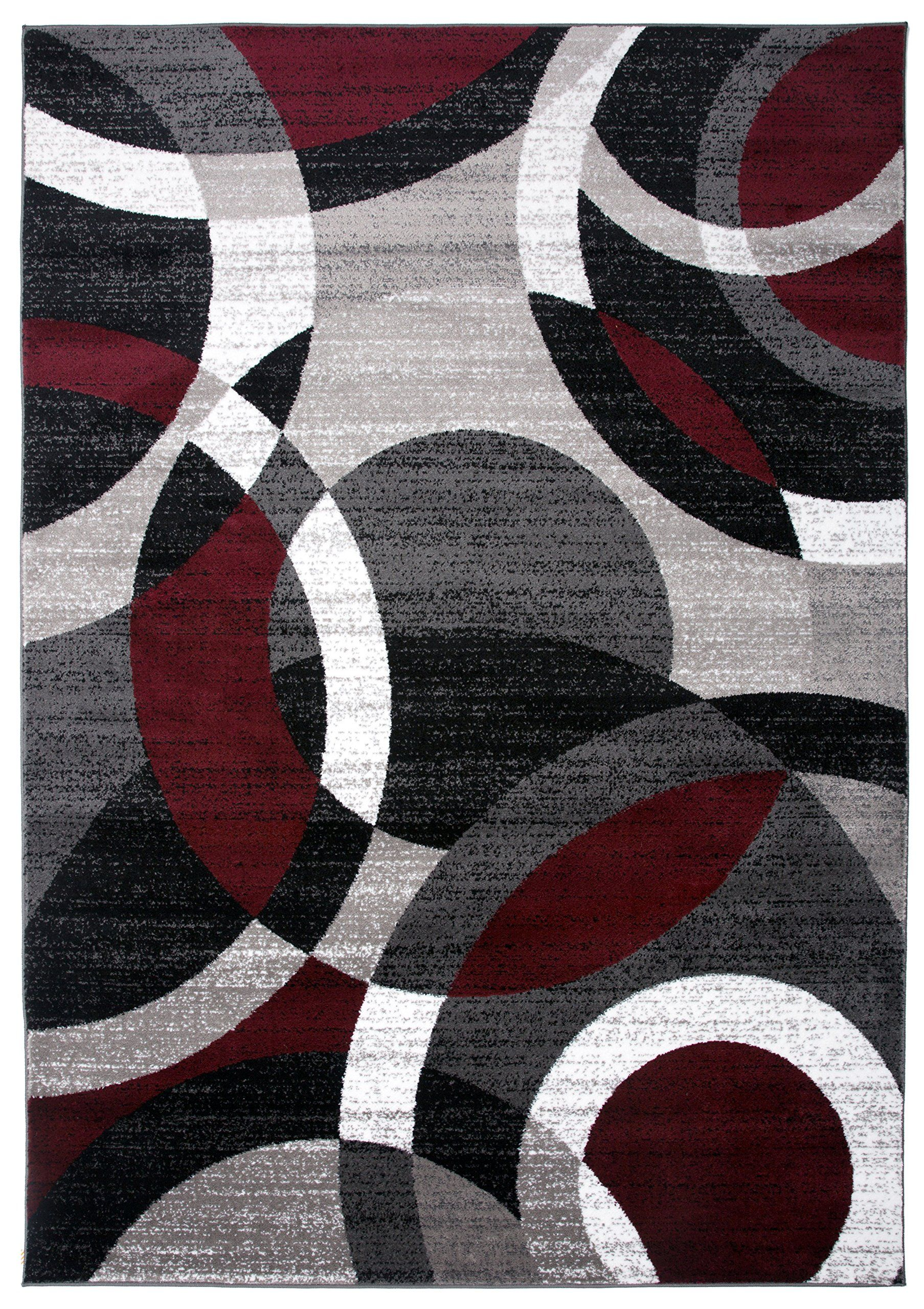 Rugshop Contemporary Modern Circles Abstract Area Rug 53 X 73 Red You Can Get More Details By Clicking On The Image Note Amazon Affi Area Rugs Rugs Beige Area Rugs