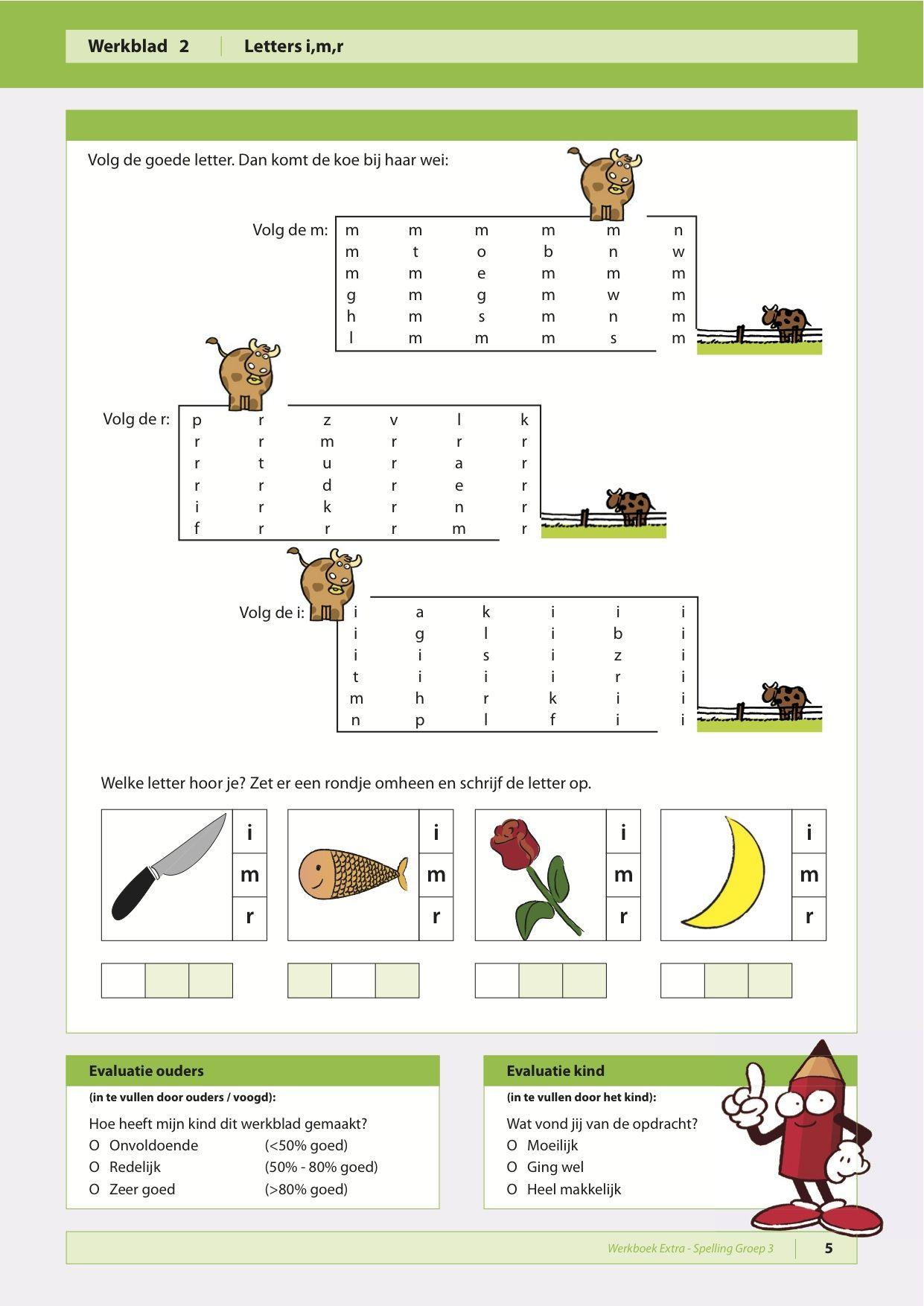 Uitzonderlijk Spelling groep 3. Oefenen van de letters i, m, r - werkbladen  DW93