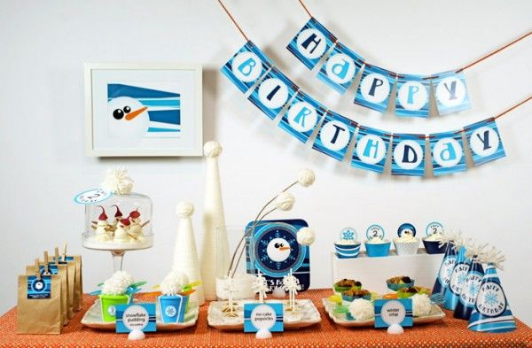 A Winter Themed Toddler Birthday Party Winter birthday Birthdays