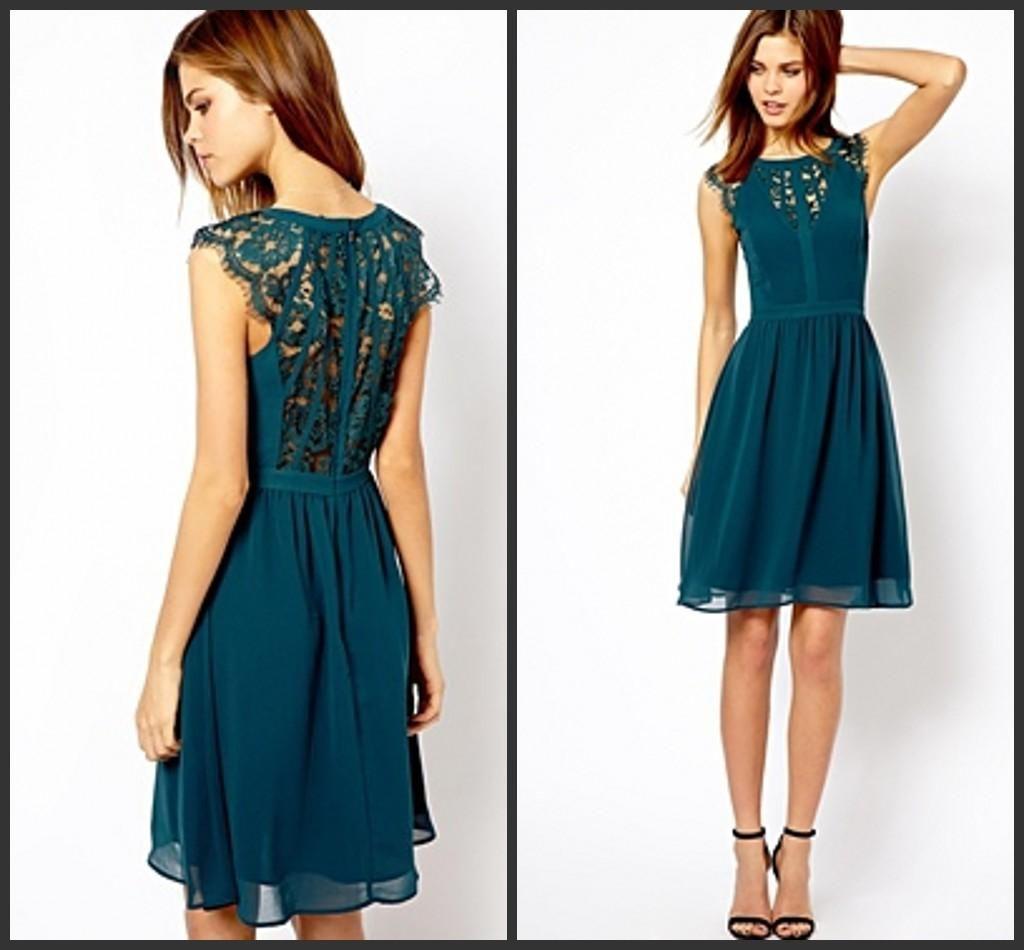 navy blue short prom dresses bohemian girl wear bridesmaid