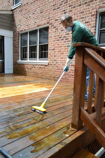How To Strip Clean A Deck For Stain Building A Deck Diy Deck