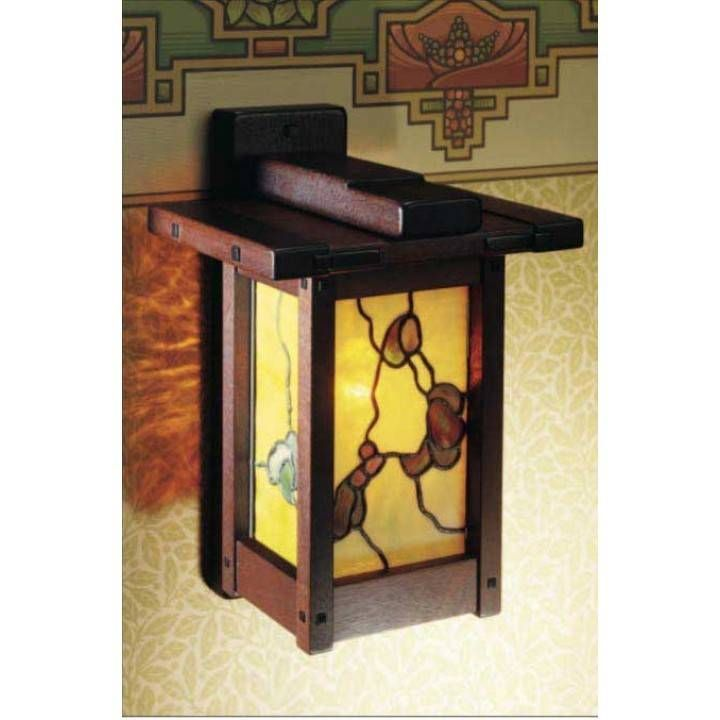 Arts & Crafts Wall Lamp Downloadable Plan | Woodworking plans ...