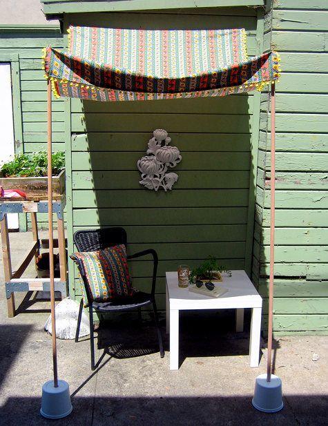 Decoración de terrazas pequeñas ¡y acogedoras! Outdoor sun shade
