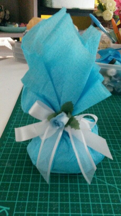 Embalagem papel crepom para bem casados /doces | festa do ...