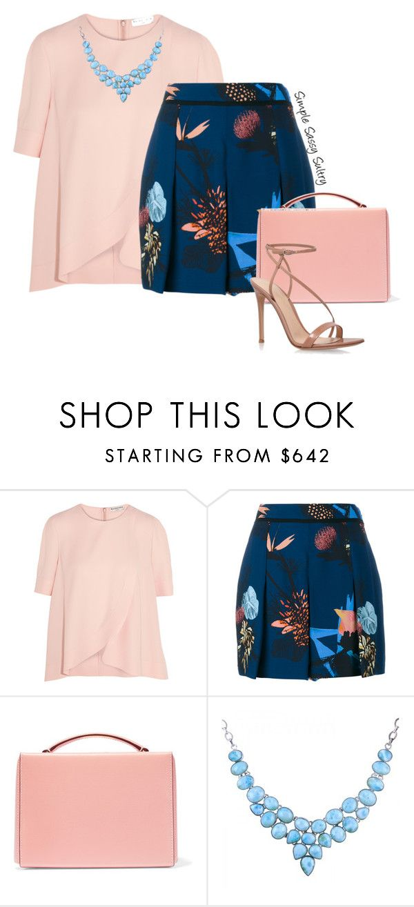 """Blushing"" by simplesassysultry ❤ liked on Polyvore featuring Balenciaga, Proenza Schouler, Mark Cross and Gianvito Rossi"
