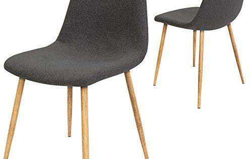 4 x chaises design avec housse en tissu \u2013 Lot de 2 chaises de salle