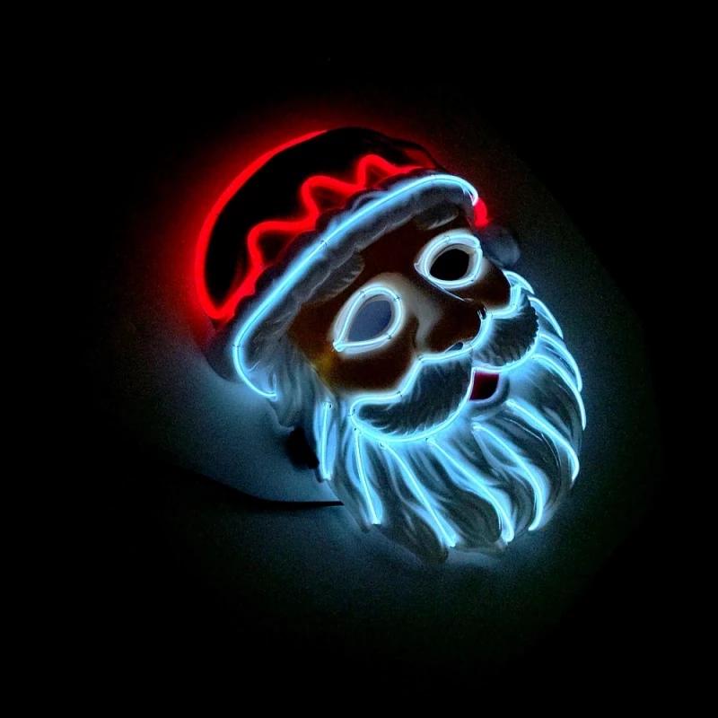 Santa Claus LED Mask (With images) Led mask, Mask