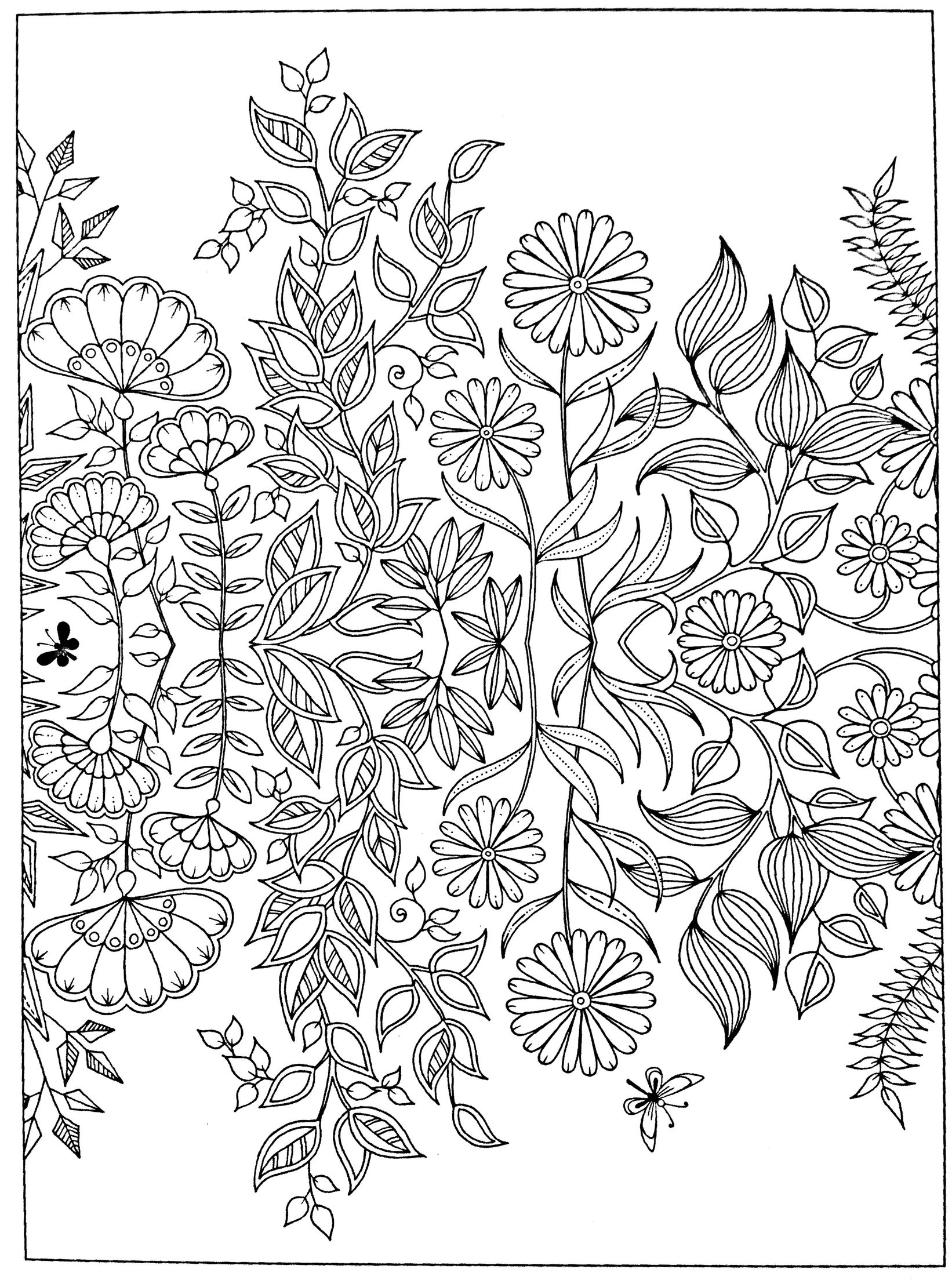 free printable secret garden coloring pages | Free adult coloring page Secret Garden | Mermaid coloring ...