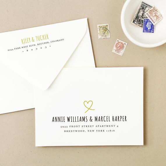 Printable Wedding Envelope Template  Instant Download  Heart