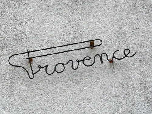 Provence signage in Bergerac, France