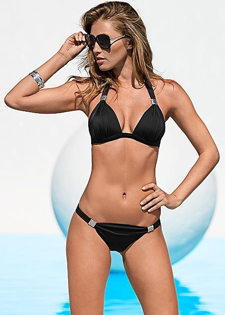 cd542a307c8f2b Black Beauty Goddess Enhancer Push Up Top Bikini | VENUS