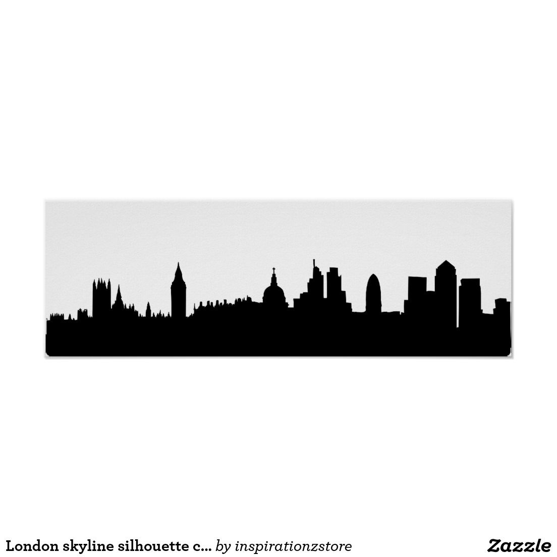 London Skyline Silhouette Cityscape Poster