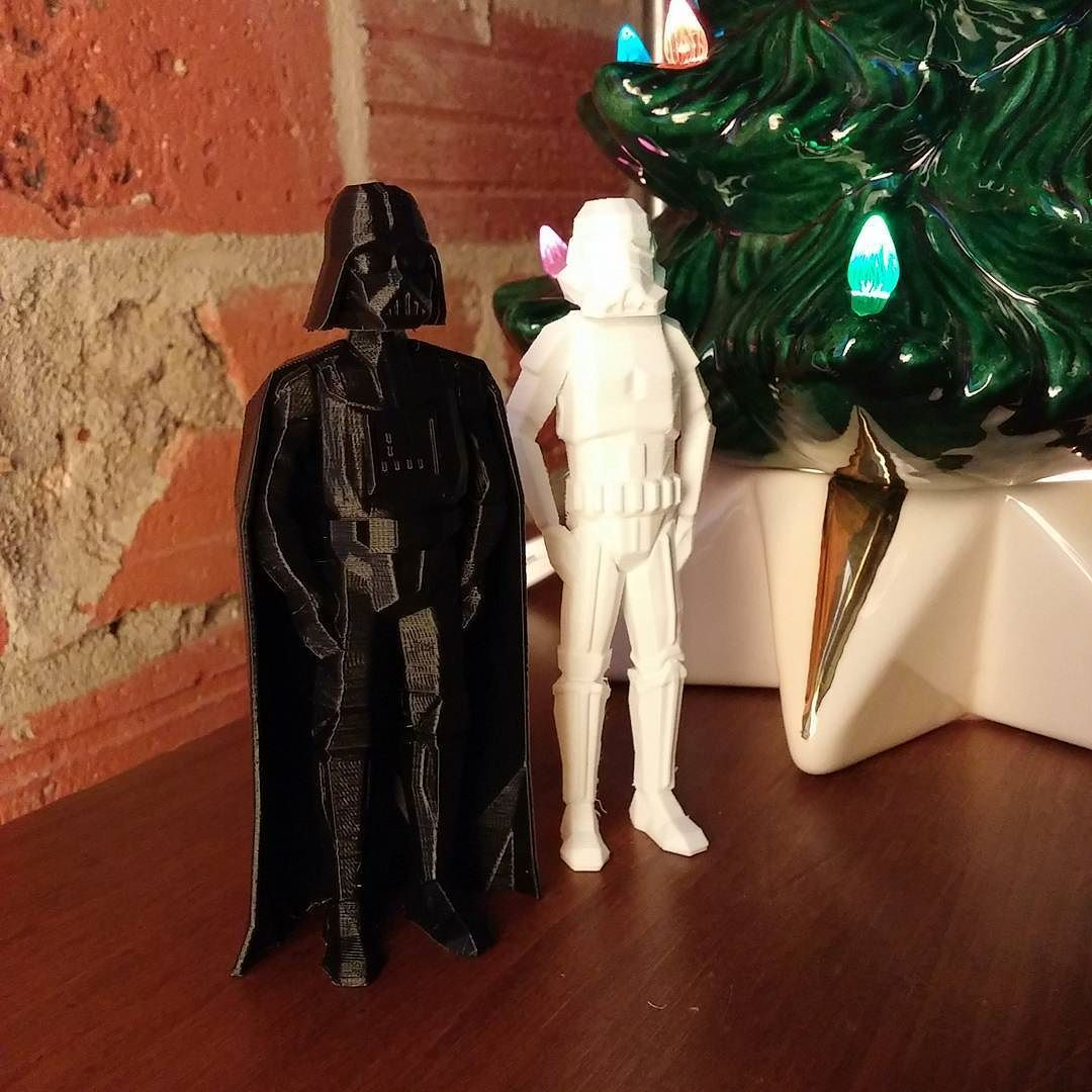 Merry xmas from D-vades and friends! #3dprint #reprap #3dprinting #starwars by erikjulian