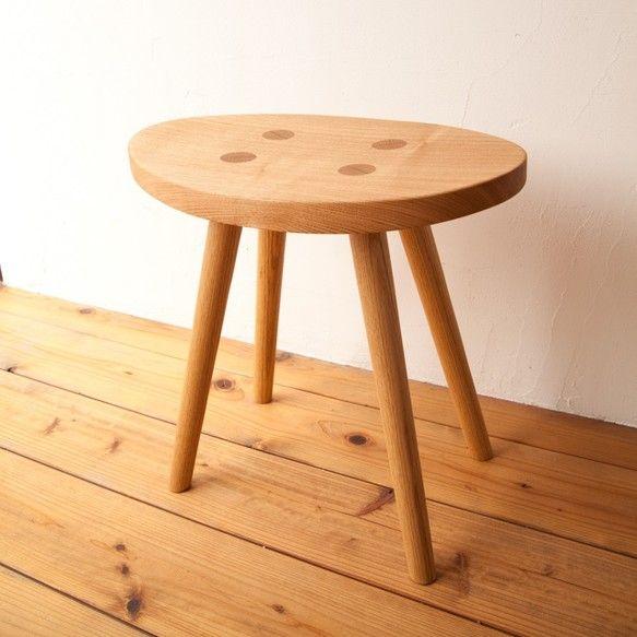 スツール エッグ No1 ナラ スツール 木製スツール 日本の家具
