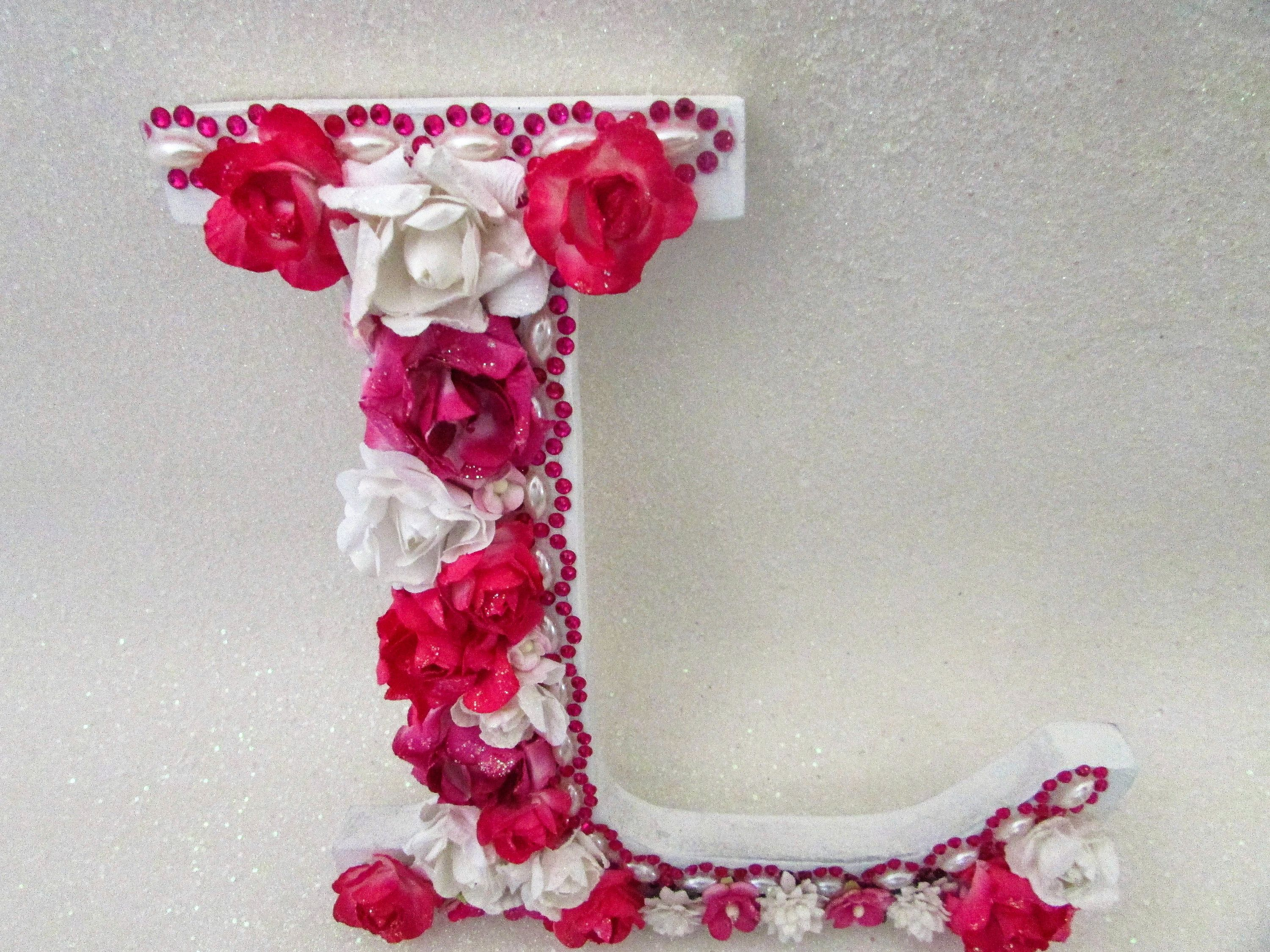Custom Flower Letter Flower Name Letter Nursery Wall Letter