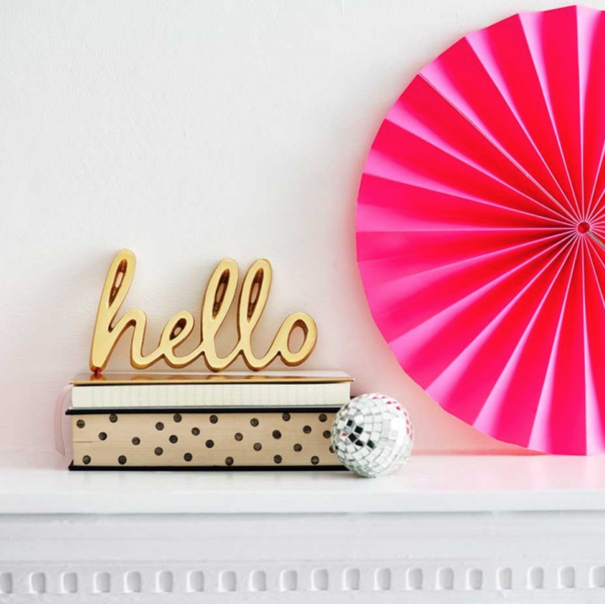 Make A Statement With This Stylish Brass Finished Word Decoration