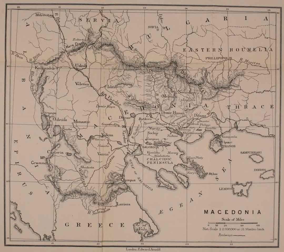 Britische Landkarte Von Makedonien George Frederick Abbott 1903