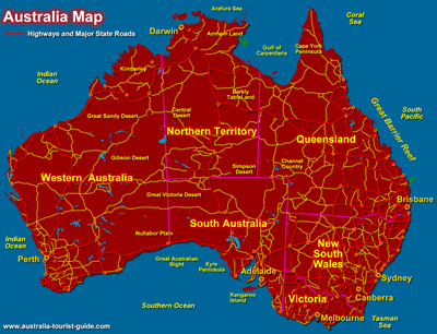 Australia Location Map.Australia Maps States Cities And Regions Australia Australia