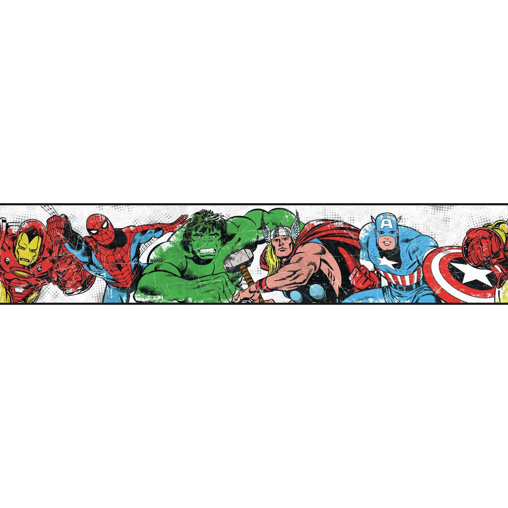 York Wallcoverings Disney Kids III Marvel Avengers Border