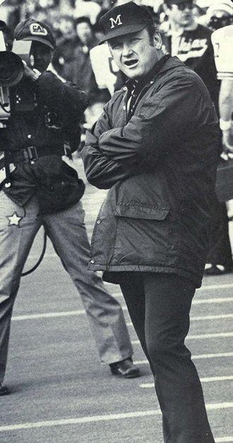 Bo Schembechler Coach Michigan 1969 89 Career Record 307