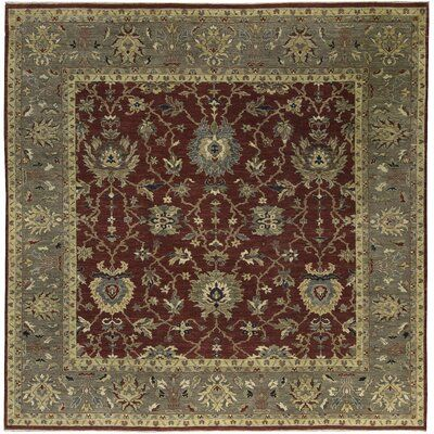 Bokara Rug Co Inc One Of A Kind Ziegler Square Oriental Hand Knotted 10 Wool Dark Red Gray Area Rug Grey Area Rug Rugs Beige Area Rugs