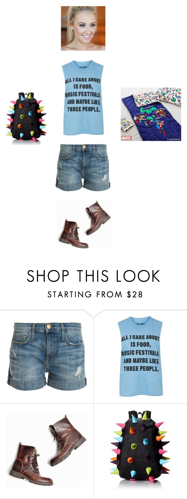 """Meeting Dipper"" by maryvarleyrox ❤ liked on Polyvore featuring Current/Elliott, Topshop and MadPax"