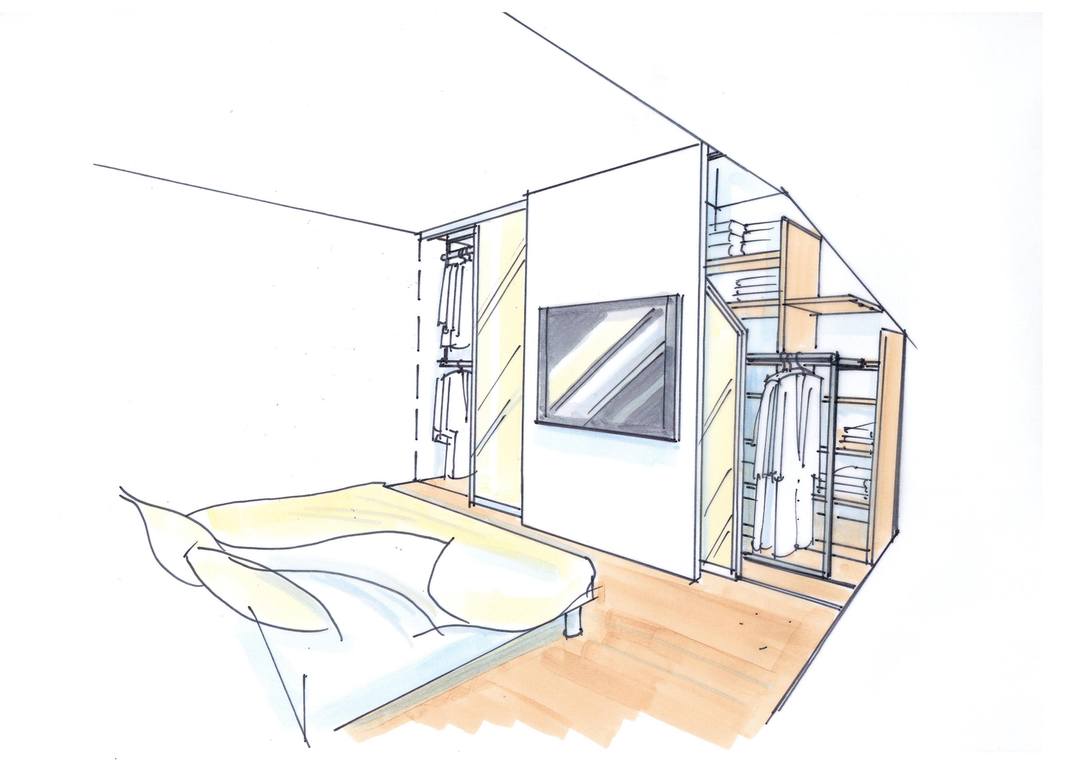 schrankraum hinter dem bett bauernhaus umbau ideen pinterest schlafzimmer dachschr ge und. Black Bedroom Furniture Sets. Home Design Ideas