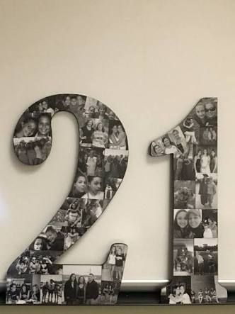 Image Result For 21st Birthday Photo Display Ideas