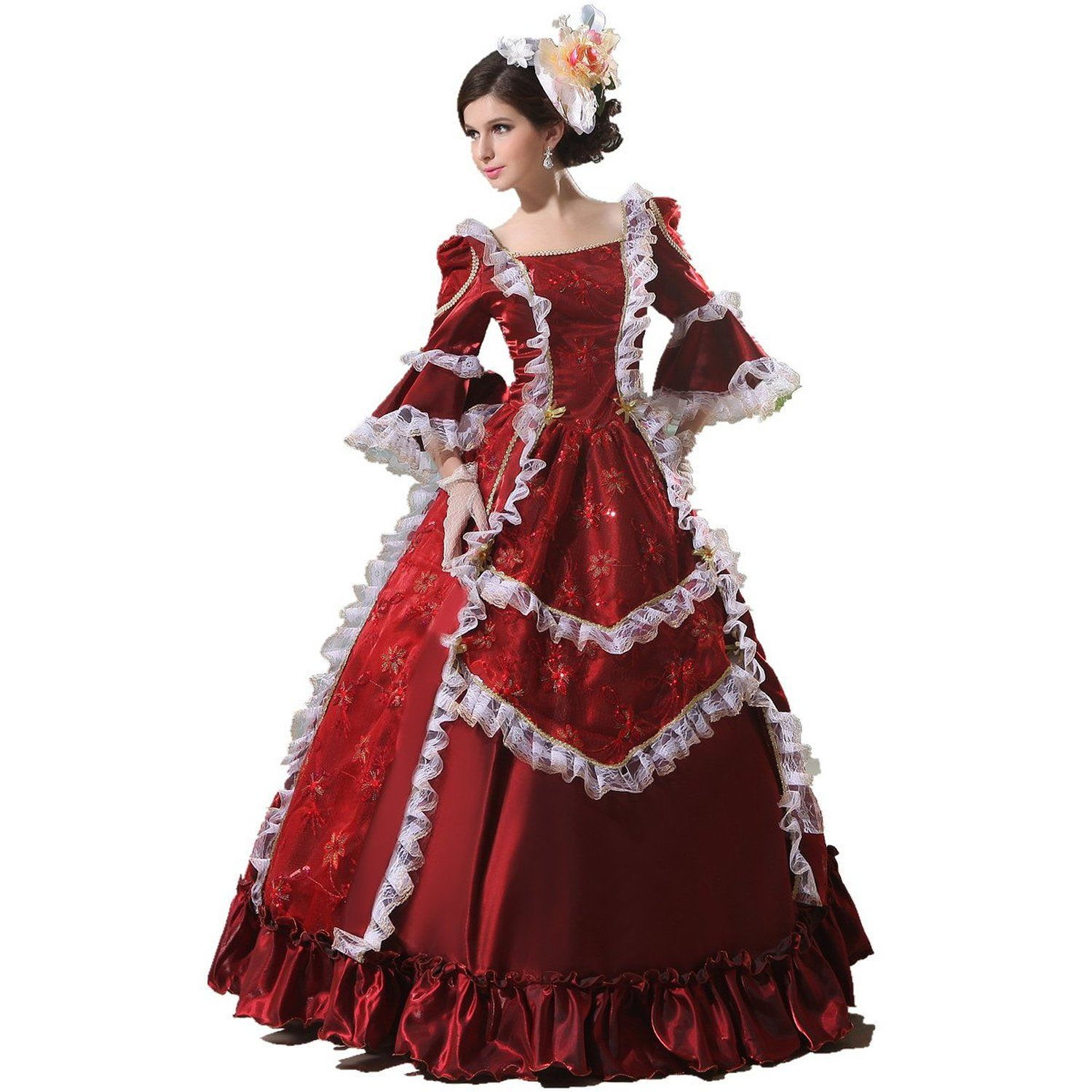 496c34d31601 Women's 17/18th Century Rococo Baroque Marie Royal Gown | Halloween ...