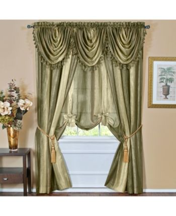 Achim Ombre Window Curtain Tie Up Shade 50x63 Reviews Window Treatments Blinds Macy S Tie Up Shades Tuscan Style Window Curtains