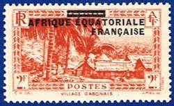 French Equatorial Africa 10 Stamp - Gabon Stamp - AF FEA 10-1 MH