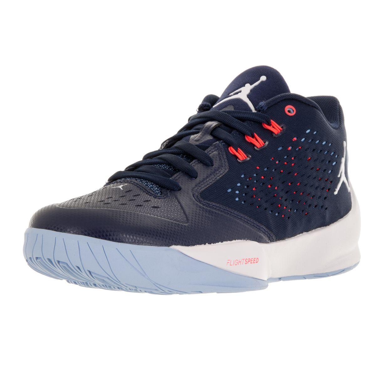 new style c39a2 0e396 Nike Jordan Men s Jordan Rising Hi-Low Mid Navy White Ic  University Bl  Basketball Shoe