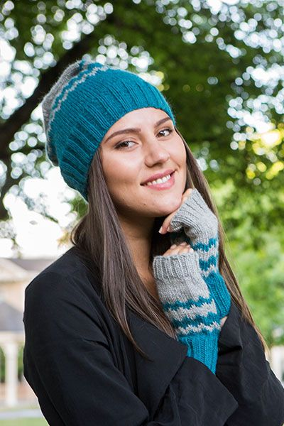 Chevron Hat and Mitts   Hat knitting patterns, Knitting ...