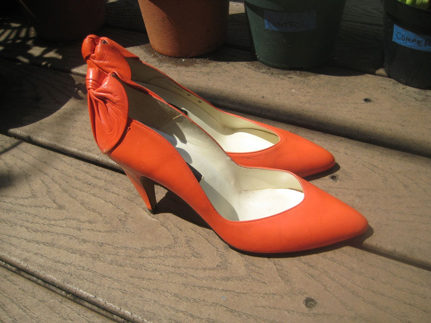Vintage 80's leather Proxy heels size 8  by MissProwl on Etsy