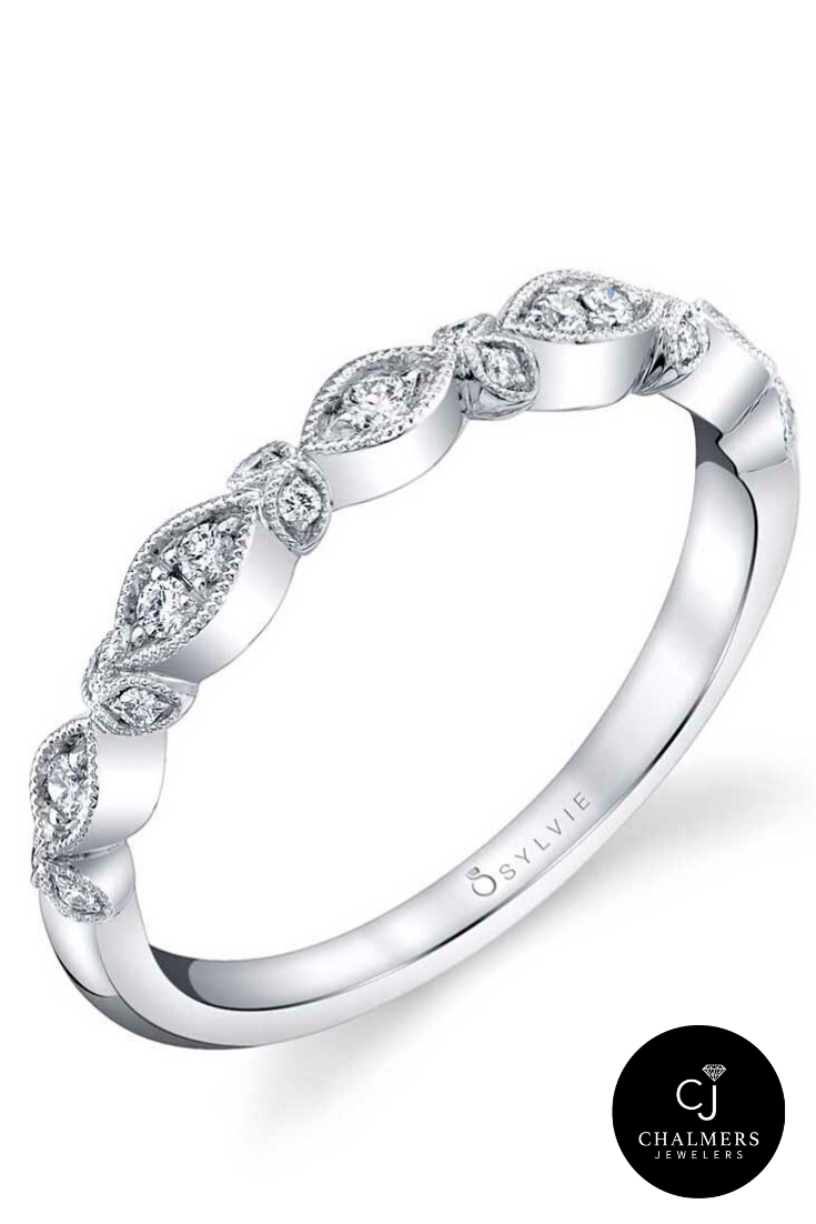 Unique Silver Wedding Bands Silver Wedding Bands Sylvie Engagement Rings Chalmers Jewelers