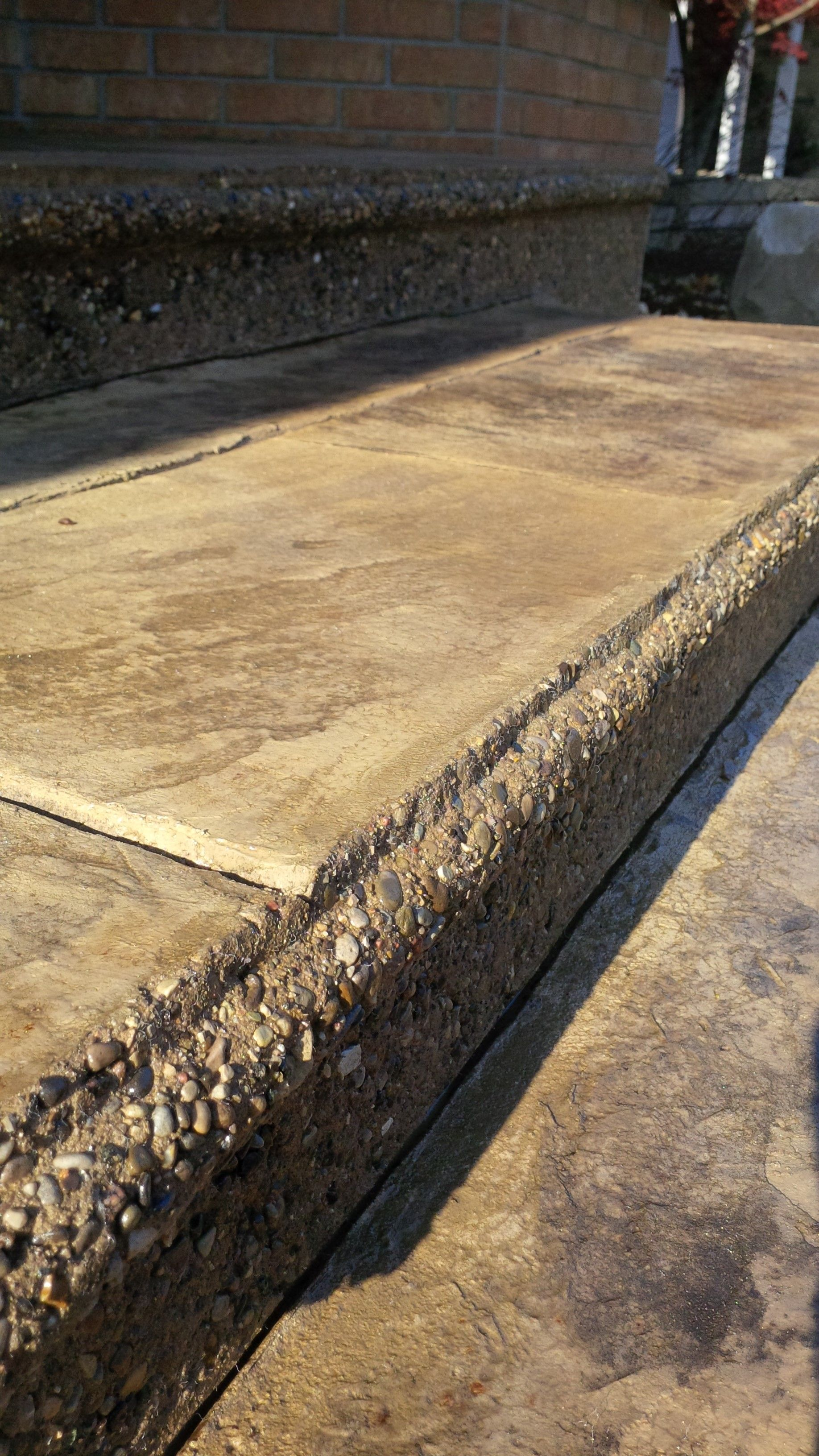 stamped concrete run and exposed aggregate rise. | Do I yourself ...