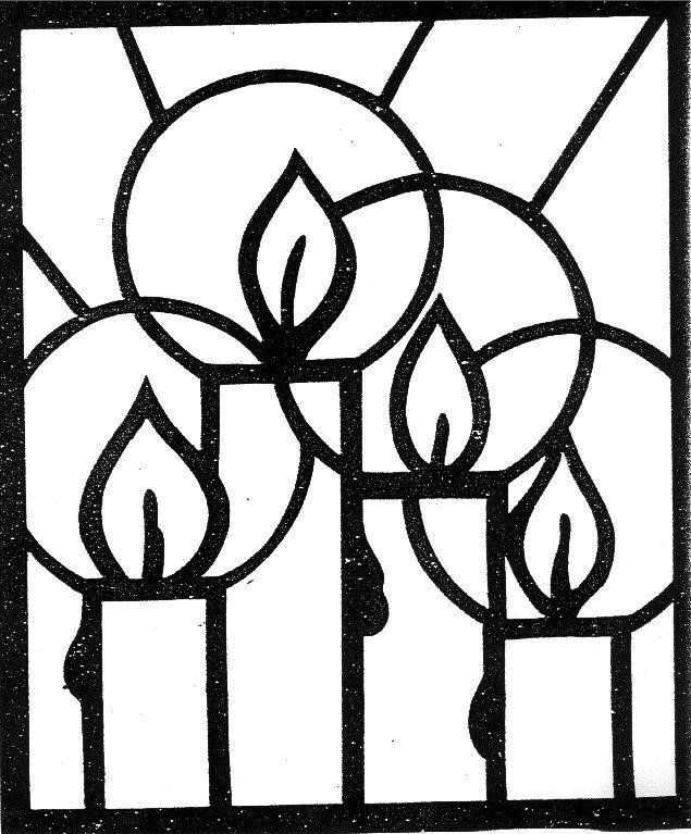 Kleurplaat Kerst Glas In Lood Idee 235 N Over Kleurpagina S