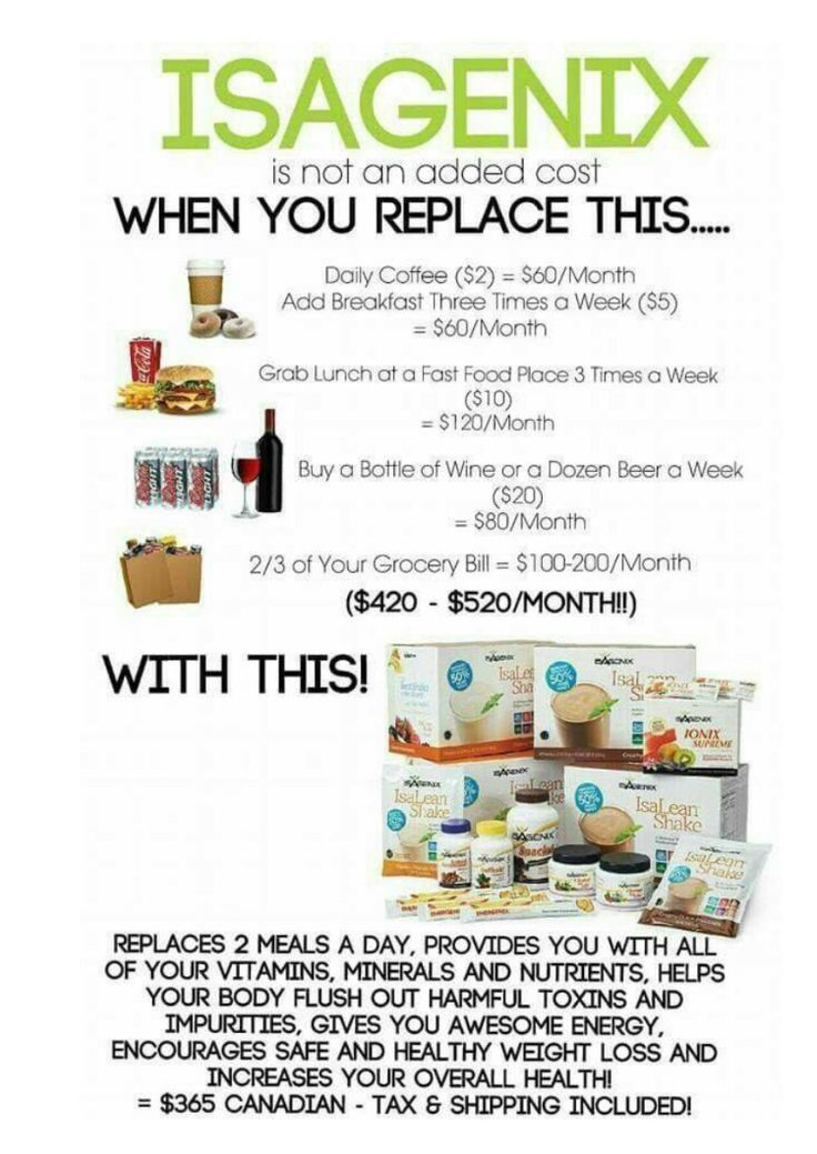 How much is Isagenix? It replaces alot of junk food at miy house.