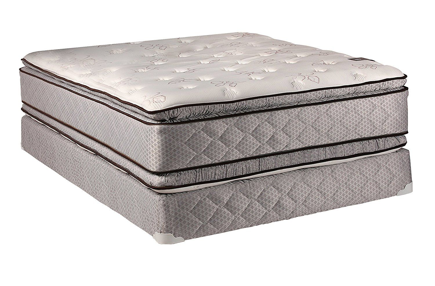comfort double sided pillowtop queen size mattress and box spring