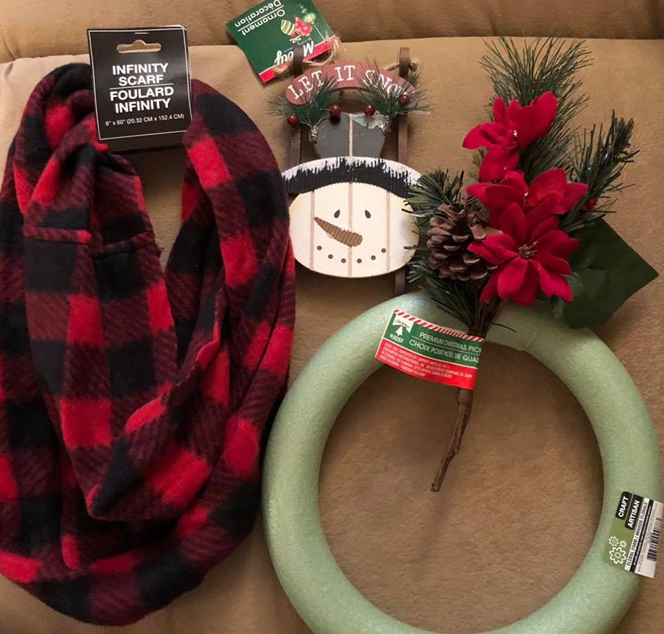 Snowman wreath (With images) Diy christmas decorations