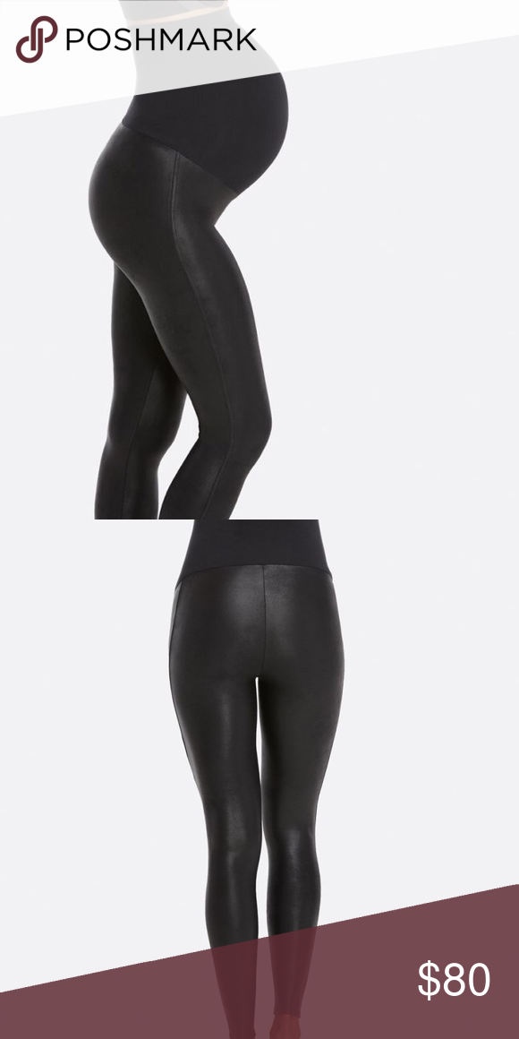 48a871efa64321 Spans Mama Faux Leather - Maternity Leggings! Spanx Maternity faux leather  leggings. No need