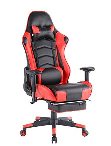 top gamer grande taille racing chaise de gaming dossier haut si ge et r glable repose pied avec. Black Bedroom Furniture Sets. Home Design Ideas