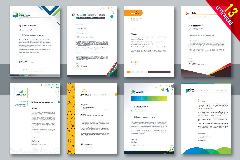 Letterhead Bundle In 2020 Letterhead Template Booklet Template Professional Letterhead Template,Fashion Designer Business Card Ideas