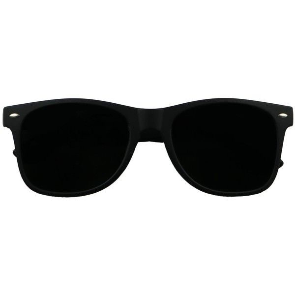 e1ed6423dd Basik Eyewear Super Dark Black Lens Springe Hinge Vintage Retro... (€8
