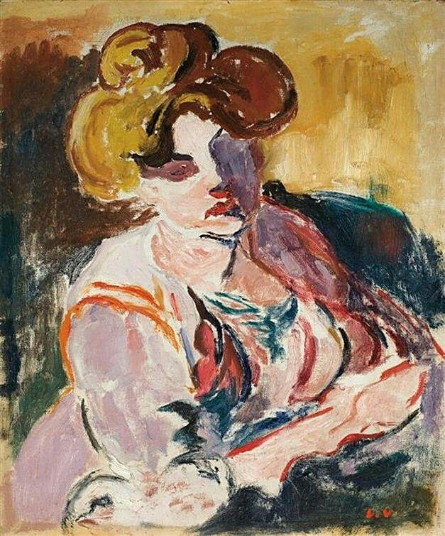 Woman with chignon, c. 1905 - Louis Valtat (1869–1952)