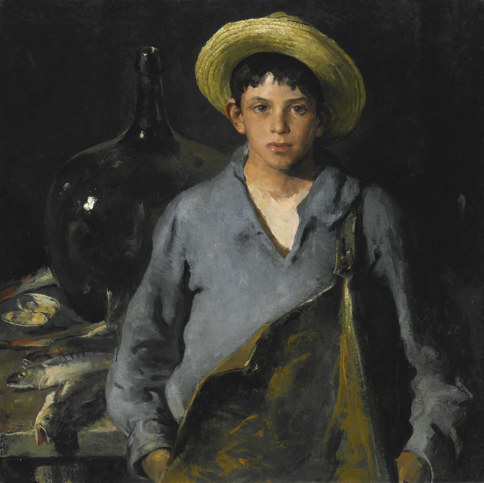 """Charles Webster Hawthorne, 1872 - 1930, """"Portuguese Fisherboy"""""""
